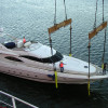 Sunseeker 80 Custom Cradle and Load on Ship