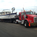 34 foot trawler transported from Long Beach to Alameda